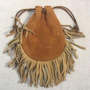 Vintage Native American Fringe Pouch Wristlet